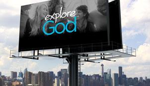 Explore God billboard